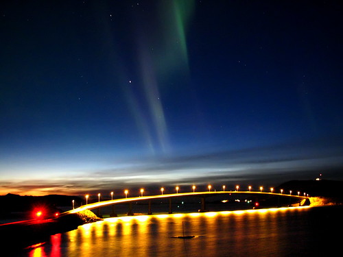 Northern Lights Over Sommarøy Bridge | by artic pj