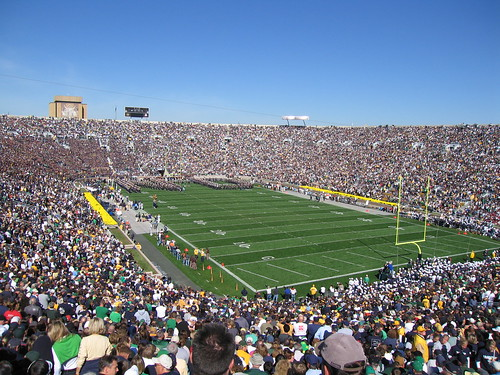 Football At Notre Dame Stadium | by supernova9