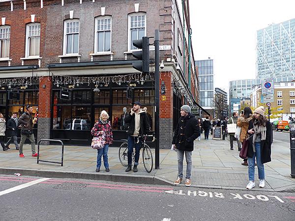 devant Spitalfields Market