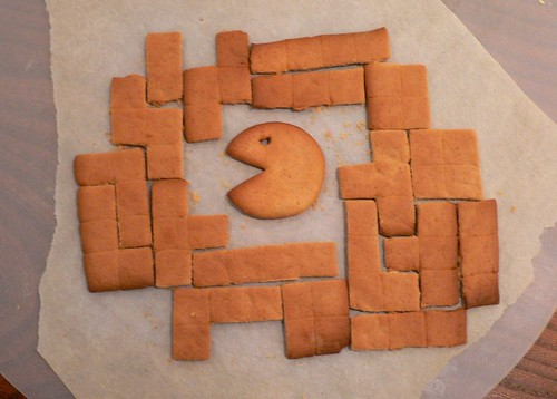 Joakim's gingerbread tetris (with pac-man) | by pixelthing