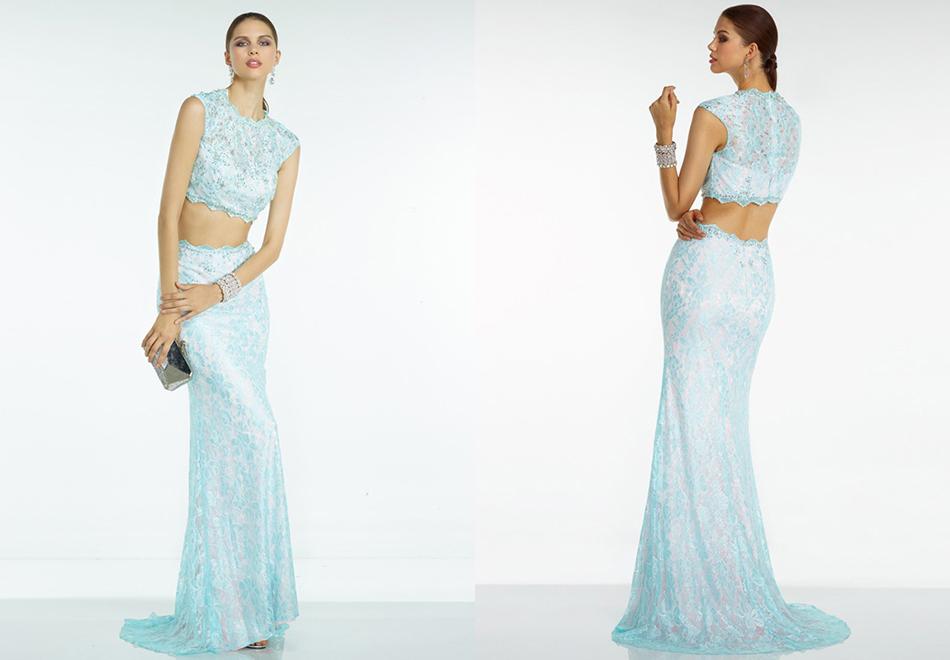 Corte Sirena En U Hasta el Suelo Tul Vestidos de Fiesta/Vestidos de Noche