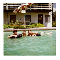 Swimming At The Motel Pool Kathy Dudley And Gail L R A Flickr