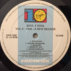 SOUL II SOUL:VOL.II(1990-A NEW DECADE)(LABEL SIDE-A)