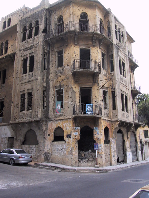 War wreckage, Beirut, Lebanon