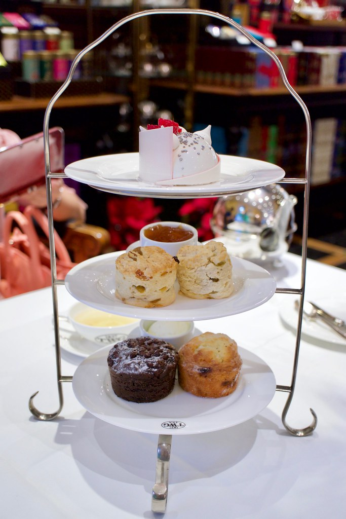 Cake, scones, and muffins at TWG.