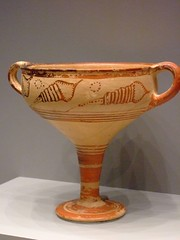 Stemmed Cup with Seashells Mycenaean 1350-1300 BCE Terracotta | by mharrsch