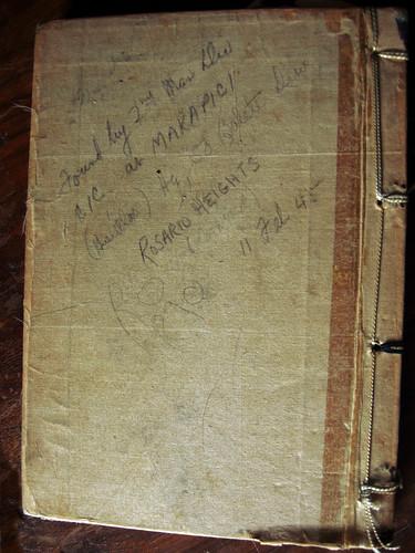 Ww ii japanese journal back cover from the estate of for Koch 6 backjournal