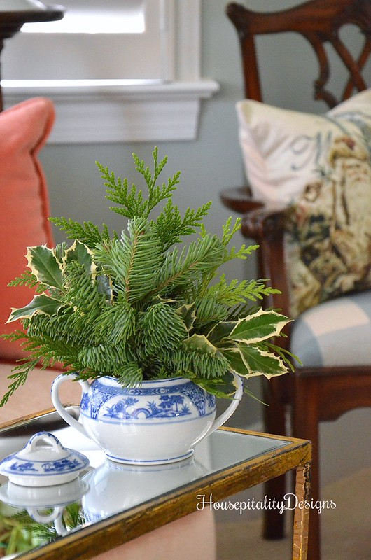 Chinoiserie Sugar Bowl of Fresh Greens- Housepitality Designs