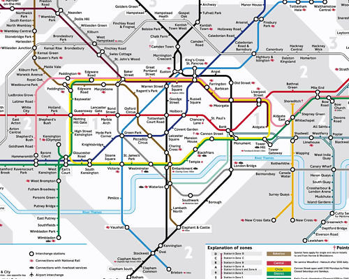 My annotated map of London - London Underground