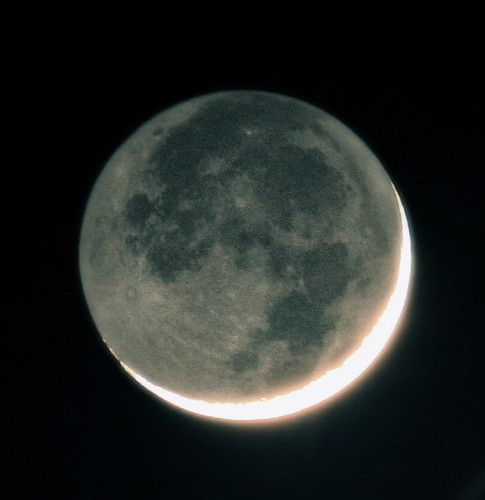Earthshine | by jurvetson