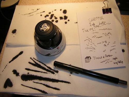 Parker Calligraphy Gift Set Pen Ink Mess