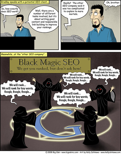 Black Magic SEO, SEO Comic | by ByronShell