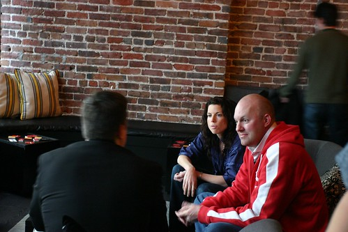 Gina Bianchini & Marc Andreessen of Ning | by joeywan