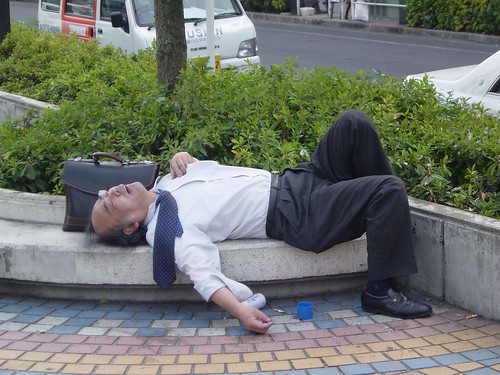 Passed Out Salaryman in the City | by ZenzenOK