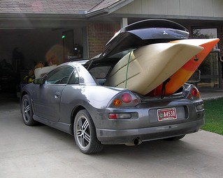 Our Mitsubishi Eclipse Packing Both Kayaks | by FreeWine