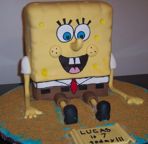 3D SpongeBob Cake This SpongeBob cake I made for my son ...