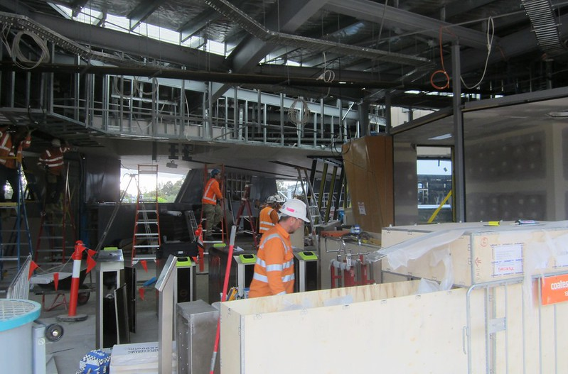 Bayswater level crossing removal: station concourse