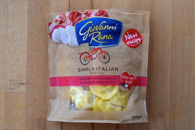 Giovanni Rana Creamy Mozzarella & Smoked Pancetta Ravioli | www.rachelphipps.com @rachelphipps