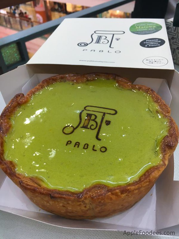Pablo Malaysia Matcha Cheese Tart with Shiratama and Azuki