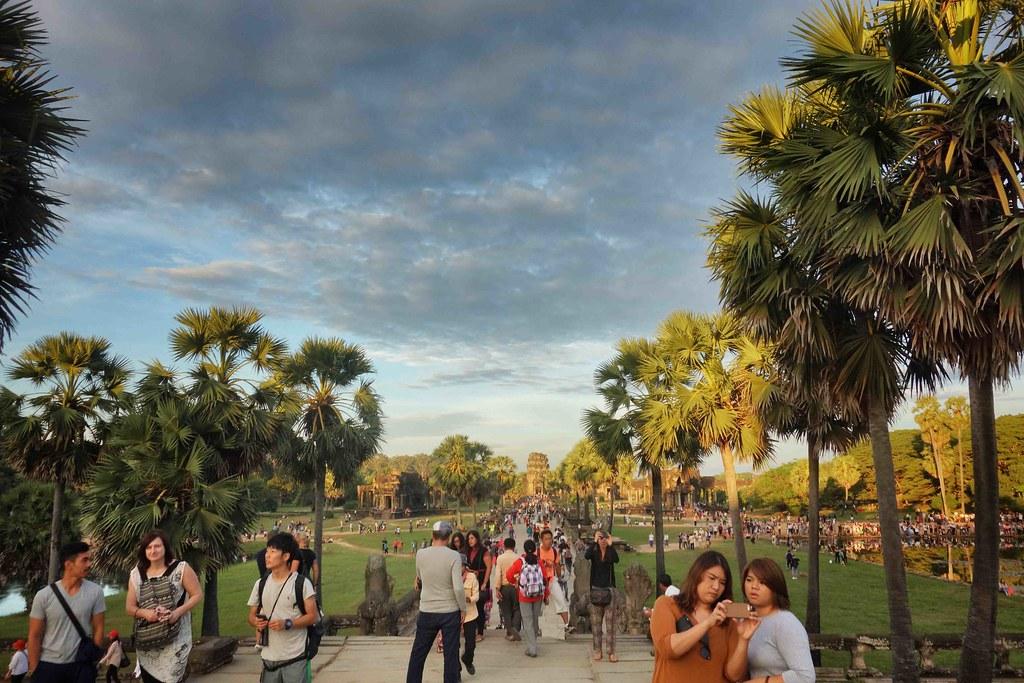 Angkor Wat Foule