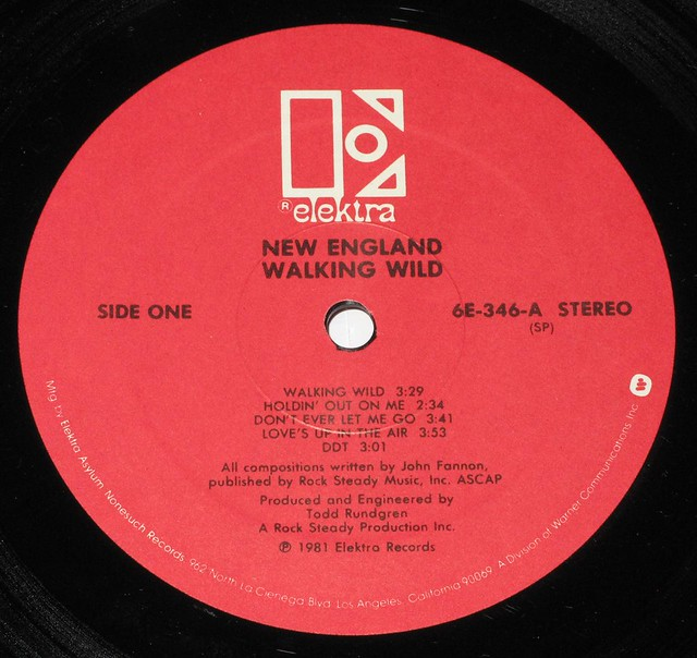 "NEW ENGLAND WALKING WILD 12"" LP VINYL"