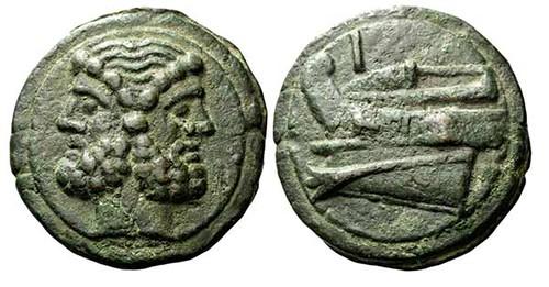 Janus Head on bronze As of Roman Republic