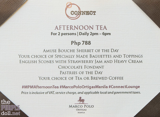 Afternoon High Tea at Connect Lounge