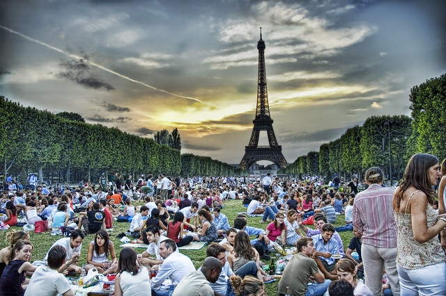 Sunset Picnic in Paris