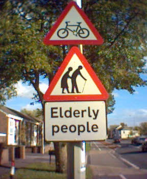 Elderly People sign | by bensons
