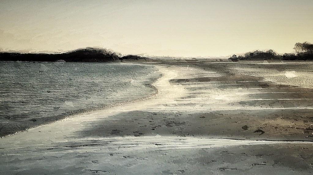 Deserted Beach, Rye NY