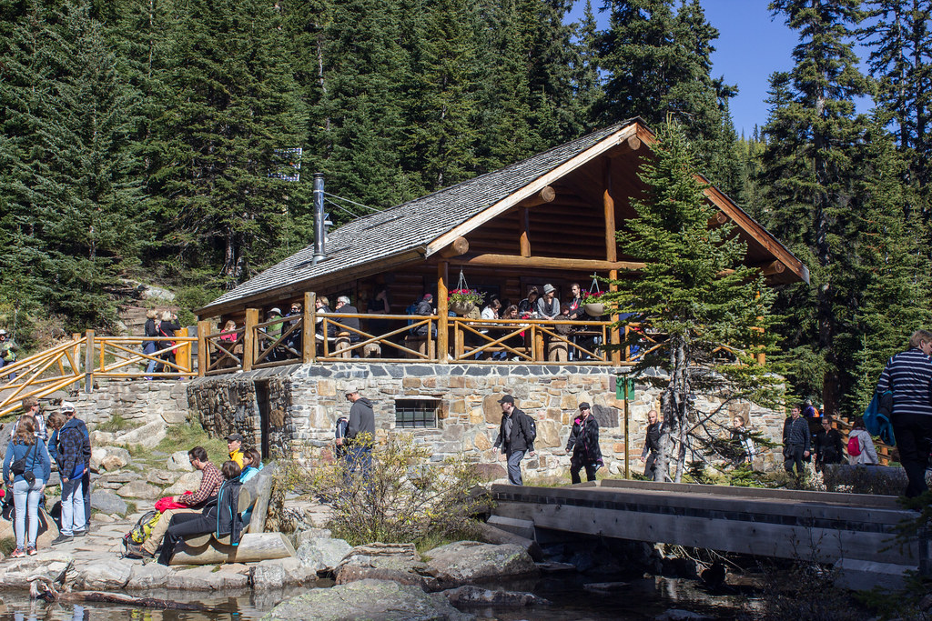 The Lake Agnes teahouse