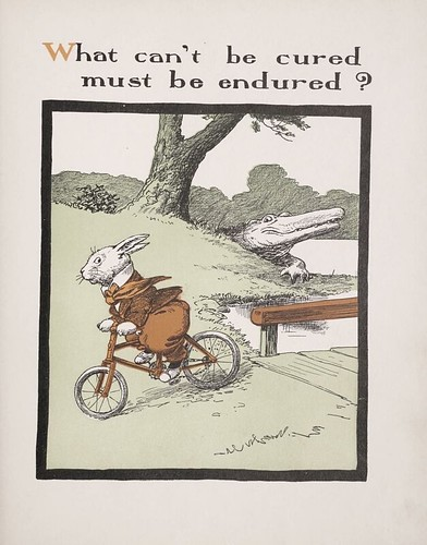 Rabbit on bicycle (illustration, 1903)