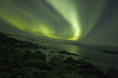 aurora over the arctic ocean 6-11-05 | by localsurfer