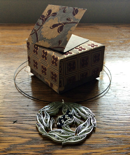 Quilled Necklace Pendant and Origami Box