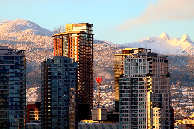 The North Shore mountains Vancouver