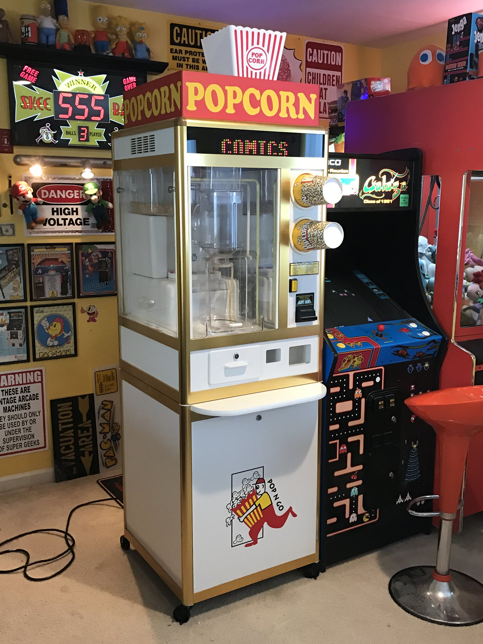 Cool For Sale Popcorn Vending Machine Coin Op Videogame Cjindustries Chair Design For Home Cjindustriesco