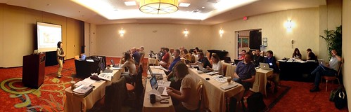 Cary Chadwick teaches a course in online mapping to land-grant colleagues in North Carolina.