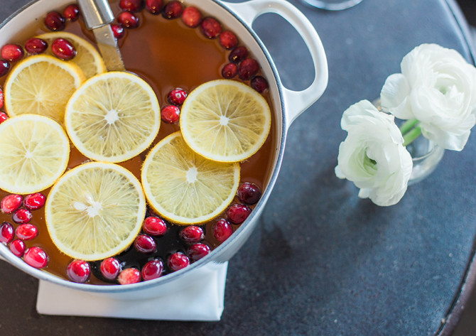 holiday party sangria punch apple cider beer