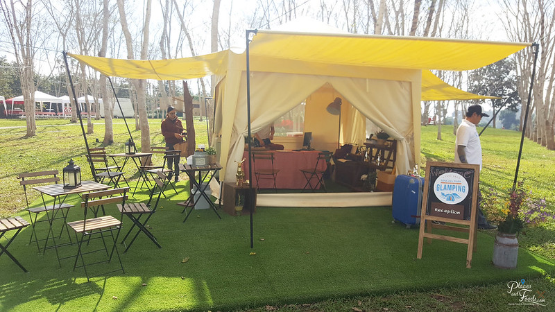 glamping reception