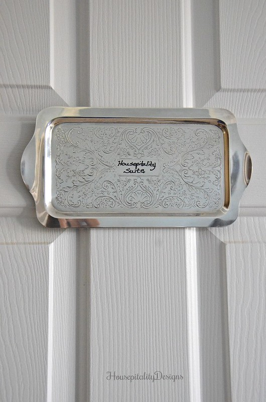 Guest Room Plaque-Silver Tray-Housepitality Designs