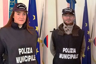 Noicattaro. I Vigili Giovanna Mastroserio e Marco Sicolo