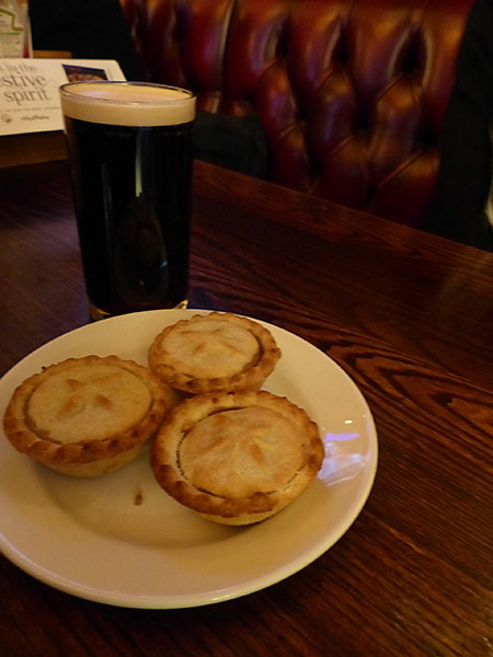 guinness and mince pies
