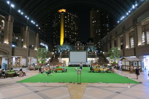 恵比寿ガーデンプレイスの芝生広場 2015/7