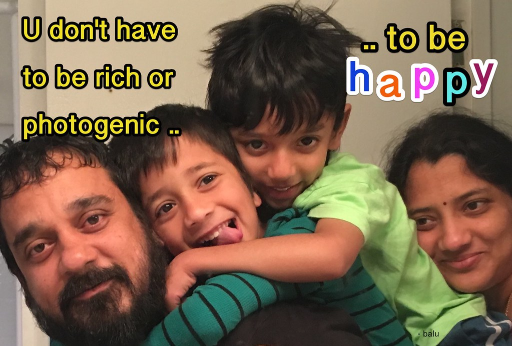 What do you want to be? happily rich? or richly happy?