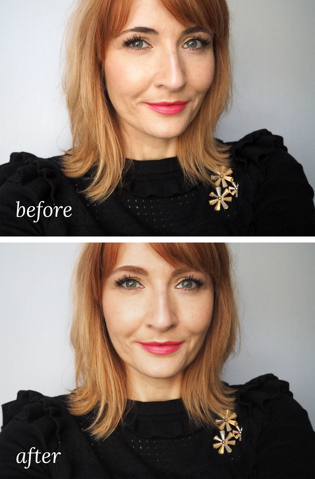 bleaching dark eyebrows to match red or blonde hair not