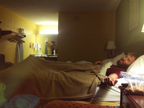 Bedtime at the Days Inn in Williamston (Jan 8 2016)
