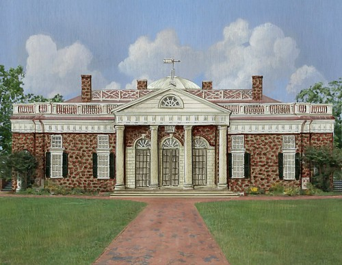 Monticello Painting by Chuck Fischer