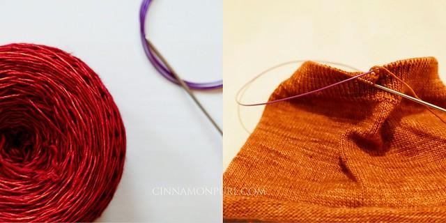 orange hat knitting