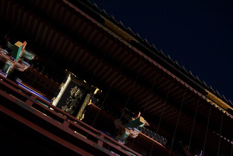 夜の根津神社をNikon D750で撮る