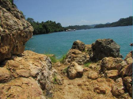 view pelelangan ikan Pantai Sendang Biru